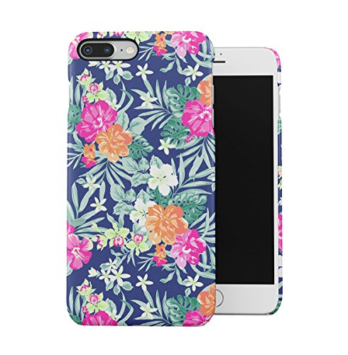 Tropical Floral Flowers Aloha Hawaii Exotic Jungle Pattern Print Apple iPhone 7 Snap-On Hard Plastic Protective Shell Case Cover Custodia Pink Hibiscus