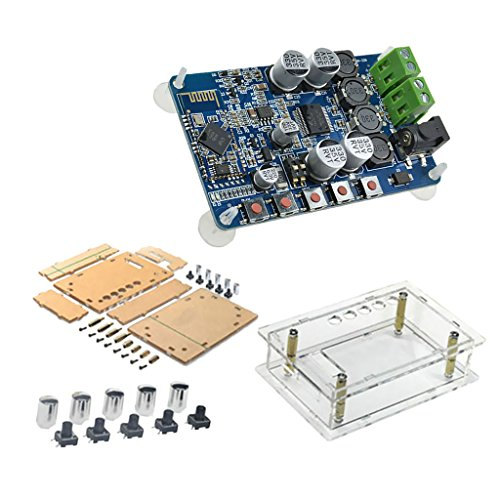 Sharplace Tda7492p 50wx2 Bluetooth V4.0 Dual-Channel Stereo-Digital-Audio-Verstärker-Board DIY Kits 8-24V mit Abdeckung Kit Bluetooth Stereo