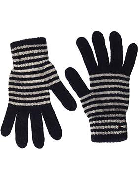 Tommy Hilfiger Damen Handschuhe Tommy Stripes Gloves, Blau (Tommy Navy 413), One size (Herstellergröße: OS)