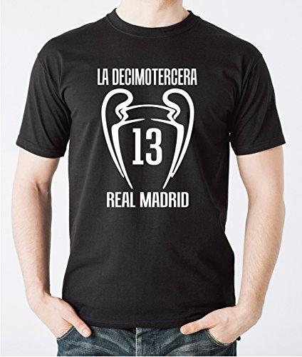 Real Madrid 2018 camiseta negra de campeón de Europa Real Madrid - Liverpool Kiev 2018 Champions League