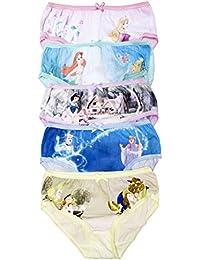 Disney M/ädchen Prinzessinnen Unterw/äsche Packung mit 5