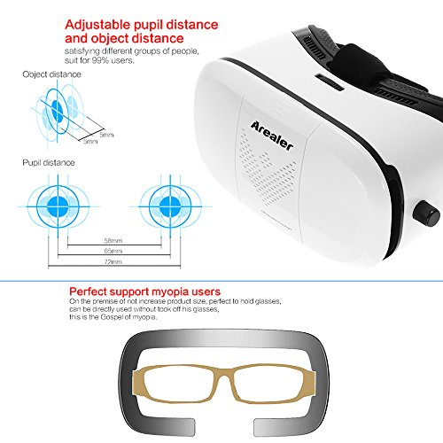 Arealer 3D Virtual Reality Brille Headset 3D VR Brille