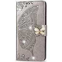 Funda de cuero para LG W30 PU Cuero magnético Flip Cover con ranuras para tarjetas Bookstyle Wallet Case para LG W30 - JESD041012 Gris