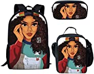 Salabomia Children's Backpack Book Bags Pen Case with Travel Lunch Box for Junior School Stu
