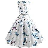 JUTOO Frauen Vintage Druck Bodycon Abend-Partei-Abschlussball-Kleid