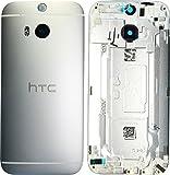 HTC One M8 Backcover Gehäuse Schale Akkudeckel Deckel Cover in Silber + Werkzeug Set