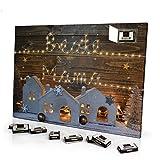 printplanet Adventskalender mit Namen Mama - gefüllt mit Schokoladen-Füllung - personalisiert mit Namens-Motiv Lichterkette - Schoko-Kalender, Weihnachtskalender, Namenskalender