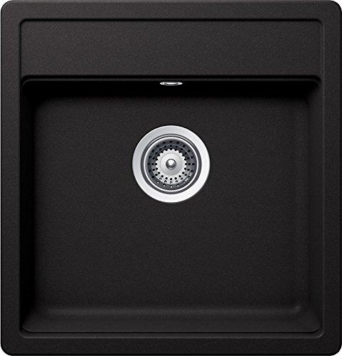 Schock Nemo N-100 S A Nero Granit Spüle Schwarz Auflage Einbaubecken Küchenspüle