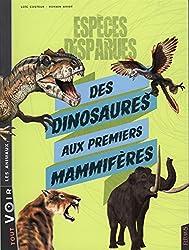 Espèces disparues, des dinosaures aux premiers mammifères
