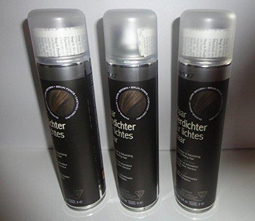Vorratsangebot! 3 Jumbo-Dosen Hairfor2 Haarverdichtungsspray 400ml (Dunkelbraun)