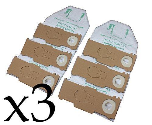 Vorratspackung 3x6 Staubsaugerbeutel Premium Vlies geeignet für Vorwerk Kobold 130, 131 und 131sc ...