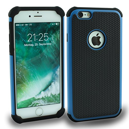 Iphone 6S Outdoor Case Gelb Cover inkl. Panzerglas 9H Hülle Schale Schutzhülle Bumper Yellow Blau