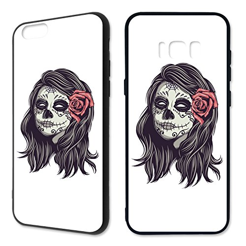 Handyhülle 'Skelette' für Apple iPhone   Silikon   Skull   Schädel   Totenkopf   Skelett, Handymodell:Apple iPhone 6/6S, Hüllendesign:Design 1   Silikon Schwarz