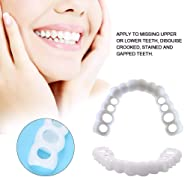Teeth Whitening Cosmetic Perfect Smile Top and Bottom Comfortable False Teeth Snap on Instant Smile for Men Women Veneers De