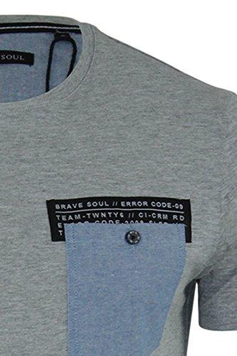 Brave Soul Herren T-Shirt Grau