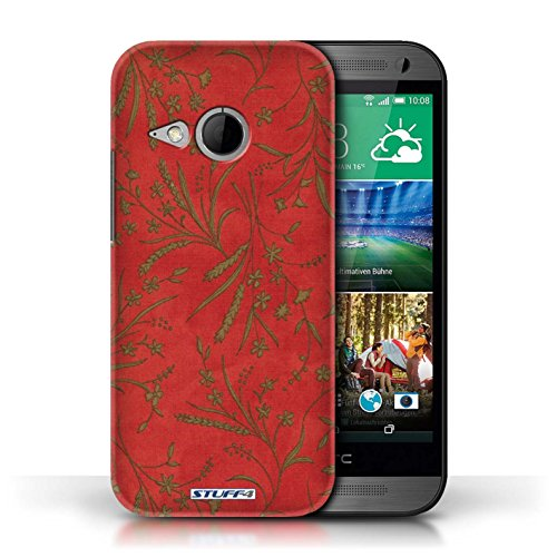 printed-hard-back-case-for-htc-one-1-mini-2-wheat-floral-pattern-collection-red-green