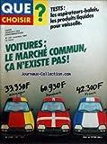 QUE CHOISIR [No 167] du 01/11/1981 - TESTS - LES ASPIRATEURS-BALAIS - LES PRODUITS LIQUIDES POUR VAISSELLE VOITURES - LE MARCHE COMMUN - CA N'EXISTE PAS