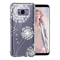 Samsung Galaxy S8 Cover case, Bestsky Ultra Slim Soft Silicone Gel Soft Solid Anti Shock Transparent Cover case with Flowers Cute animal Pattern for Samsung Galaxy S8 5.8