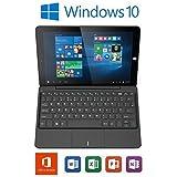 "Linx 1010B 10.1"" Tablet Intel Atom Z3735F Quad Core 1.3GHz Burst up to 1.83 GHz Processor, 2GB RAM, 32GB Flash, Detachable Keyboard, HDMI, WiFi, 1280 x 800 Resolution, 2MP Front and 2MP Back Cameras, 2 Full Size USB Ports, Windows 10"