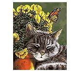 OKOUNOKO Puzzles Rätsel 1000 Teile Für Erwachsene 3D Katze Schmetterling DIY Moderne Kunst Ing Zusammenbauen Hölzern Personalisiert Rätselspaß Spiele