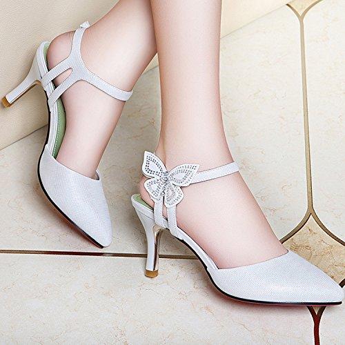 ZPPZZP La sig.ra sandali porta luce in stile Coreano punta-punta a tacco alto con fine 36EU