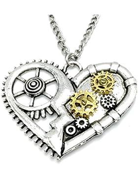 Halskette Steampunk Herzform, Valentinstag