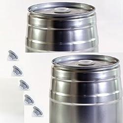 Paquete de 2 barriles de 5 litros (incluye 3 tapones de goma)