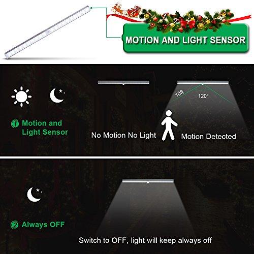comprare on line [Installabile in 2 Modi] LOFTer Luce Armadio Ricaricabile a 20 LED con Sensore Luce e Movimento, Luce Wireless con 2 Modalità OFF/Auto, inclusi Magnete+2 Viti prezzo