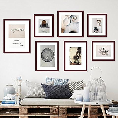 X&L Pintura decorativa, pintar el fondo de madera sólida de salón foto murales de pintura de la pared de cartera minimalista moderno sofá ,