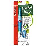 Ergonomischer Druck-Bleistift - STABILO EASYergo 3.15 in hellblau/dunkelblau - inklusive 1 dicker Mine - Härtegrad HB & Spitzer - für Rechtshänder