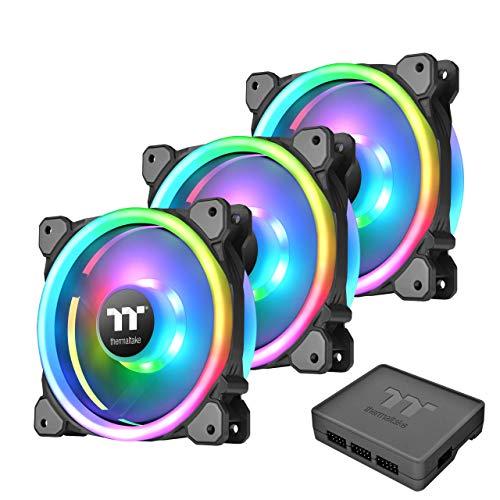 bc8db3995bb Thermaltake Riing Trio 14 LED RGB TT - Pack de 3 Ventiladores para PC, Color