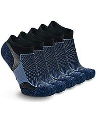 Weekend Peninsula 5 Pares Calcetines Running Deportivos Hombres Mujer, Calcetines Cortos Tobilleros Hombre Mujer Invisibles Bajos Antiampollas (EU 40-43, 5X Azul Oscuro)