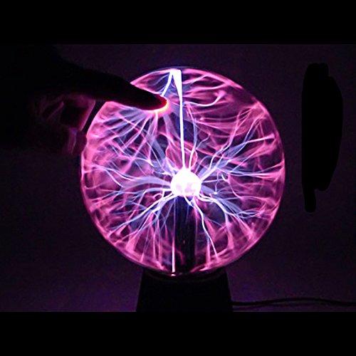 DaDago Plasma Ball Light Lampe De Boule De Cristal Magique Ion Sphere Lightning Carnaval Atmosphere Lampes Purifier Air Nouveauté Nuit Lumières Home Decor - 8 Pouces