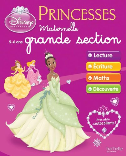 Cahiers d'exercices Princesses Disney - Maternelle Grande Section