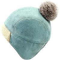 Gorros Gorro De Sombreros Gorras Calentar Cálido Unisex Beanie Sombrero Cálido Y Agradable Protección Auditiva De Invierno Mujer ZHANGGUOHUA (Color : Azul)