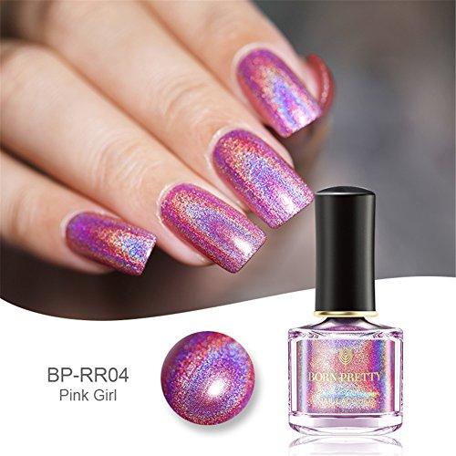 Born Pretty 6ml Vernis Holographique avec Holo Paillette Brillante Nail Art H004 - Temps Magnifique