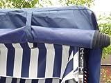 XINRO® – XY-71 – Volllieger Ostsee Strandkorb anthrazit inkl. Strandkorbhülle u. 4x Kissen, – schwarzes Polyrattan, Ostsee Strandkorb Form - 8