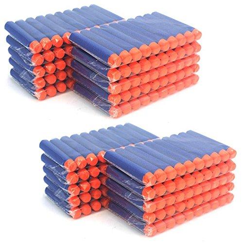 MCTECH® 200 Stück Soft Dosenwerfen SetfürDart Nerf Ziel für Nerf N-Streik Elite Blasters für Kinder Spielzeug Gun Soft Bullet (type A, Blau)