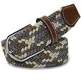LUFA caoutchouc élastique Rhombus Multicolor Ceinture en alliage Boucle Woven ceinture Pour Hommes / FemmesL12