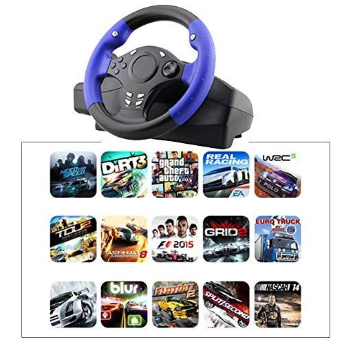 Purplert 7-in-1 Rennlenkrad 270° Lenkung PS4 / PS3 / PC/Xbox-One/XBOX-360 / Schalter/Lenkrad für Android-Spiele