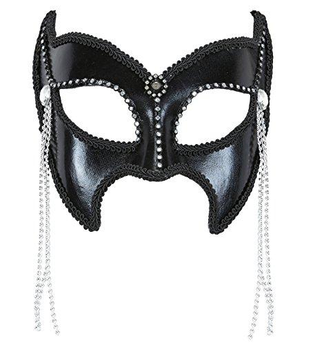 Widmann 03627-Maske Domino Gran Gala Sadomaso mit Strass und Perlen, Einheitsgröße (Domino-spiel Kit)