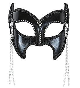 WIDMANN 03627-Máscara Domino Gran Gala Sadomaso con Brillantes y Perlas, Talla única