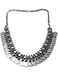 Oxidised German Silver/fashion/Antique Jewellery GINI Necklace Set For Women And Girls