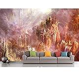3D Wallpaper Wände Künstlerische Landschaft 3D Fototapeten Wohnkultur Wohnzimmer 3D Wandbilder Wallpaper Luxus, 430X300 Cm (169,29X118,11 In)