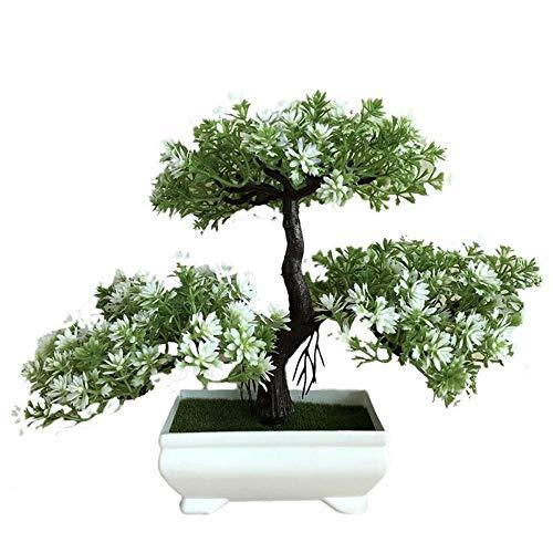 Bonsai-willow Tree (DAGE&NN Ganoderma Baum Lotus Pine Tree Simulation Blume Kunstpflanze Bonsai Grünen Topf Kunstpflanzen Ornamente Dekoration Handwerk @ Kunstblume B_5 * 26 * 22 cm)