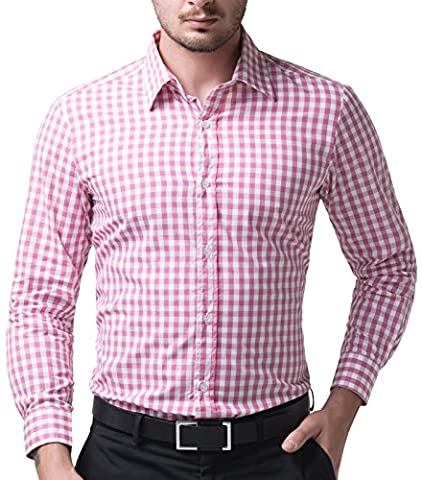 Stivoll Herrenhemd Kentkragen Körperbetonter Schnitt Langarm Hemd L CL6299-4