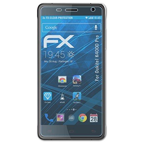 atFolix Schutzfolie kompatibel mit Oukitel K4000 Pro Folie, ultraklare FX Bildschirmschutzfolie (3X)