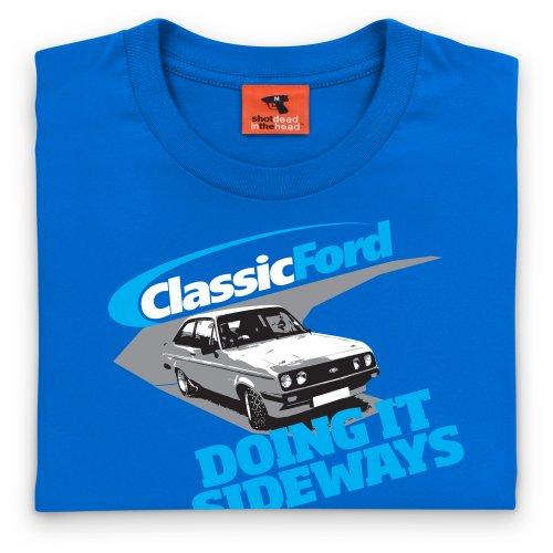 Classic Ford Doing It Sideways T-Shirt, Herren Royalblau