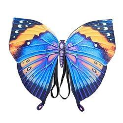Yanhoo Schmetterlings Flügel Butterfly Wings Shawl Fairy Ladies Nymph Pixie Costume Accessory Große Schmetterlingsflügel Schmetterling Kostüm Damen Karneval Cosplay Accessoires Umhang