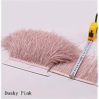 Flecos de plumas de avestruz de 34 colores para hacer sombreros o vestidos Dusky Pink